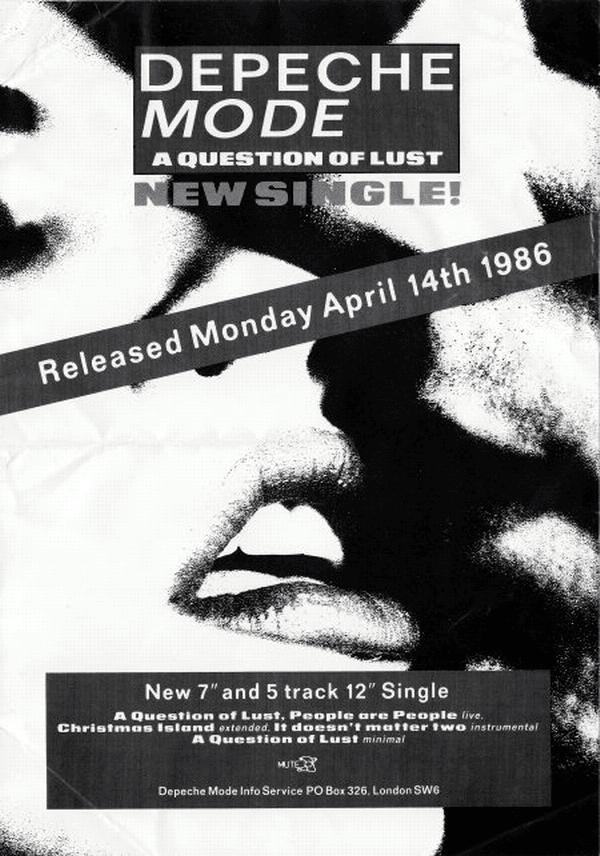 depeche mode a question of lust 1986. Black Bedroom Furniture Sets. Home Design Ideas