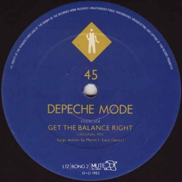 Depeche Mode Quot Get The Balance Right Quot 1983
